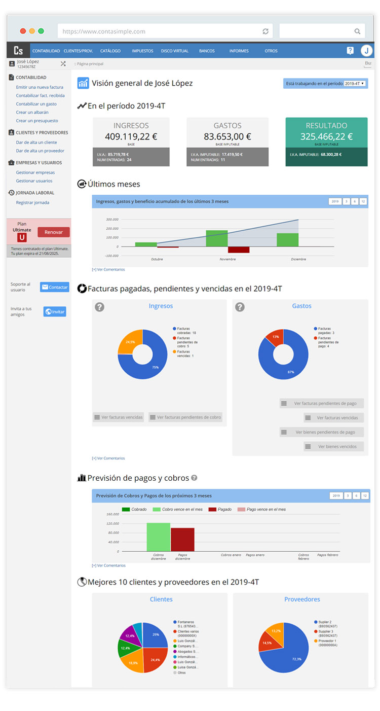 Ver fotos de la web de contabilidad y cálculo de impuestos para ...