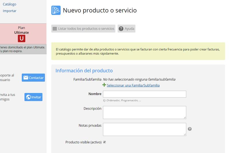 Información del producto