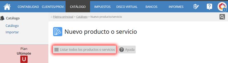 Nuevo producto o servicio