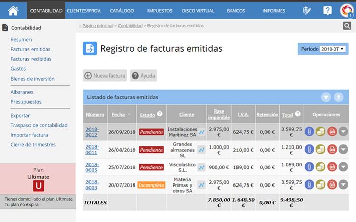 click en el icono Exportar FacturaE