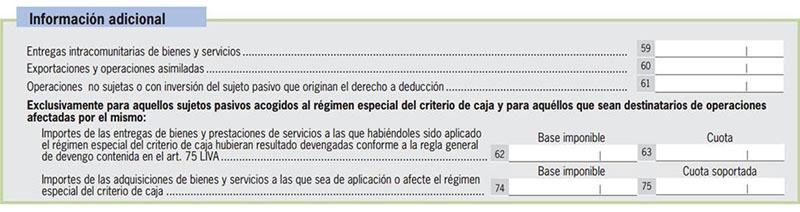 Modelo 303 - Sección Información Adicional